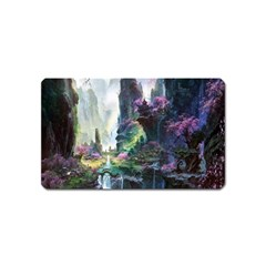 Fantastic World Fantasy Painting Magnet (Name Card) by Onesevenart