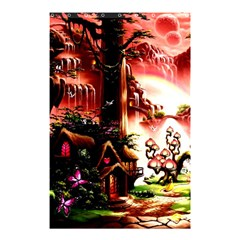 Fantasy Art Story Lodge Girl Rabbits Flowers Shower Curtain 48  X 72  (small)  by Onesevenart