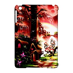 Fantasy Art Story Lodge Girl Rabbits Flowers Apple Ipad Mini Hardshell Case (compatible With Smart Cover) by Onesevenart