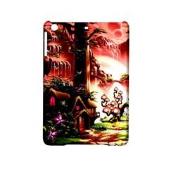 Fantasy Art Story Lodge Girl Rabbits Flowers Ipad Mini 2 Hardshell Cases by Onesevenart