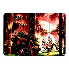 Fantasy Art Story Lodge Girl Rabbits Flowers Samsung Galaxy Tab Pro 10 1  Flip Case by Onesevenart