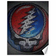 Grateful Dead Logo Canvas 18  x 24