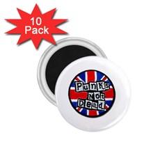 Punk Not Dead Music Rock Uk Flag 1 75  Magnets (10 Pack)  by Onesevenart