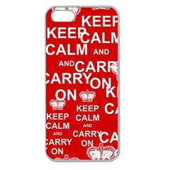 Keep Calm And Carry On Apple Seamless Iphone 5 Case (clear) by Onesevenart