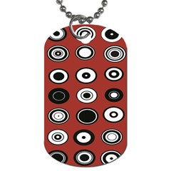 Circles Red Black White Dog Tag (two Sides) by Alisyart