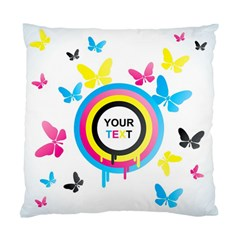 Colorful Butterfly Rainbow Circle Animals Fly Pink Yellow Black Blue Text Standard Cushion Case (one Side) by Alisyart