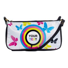 Colorful Butterfly Rainbow Circle Animals Fly Pink Yellow Black Blue Text Shoulder Clutch Bags by Alisyart