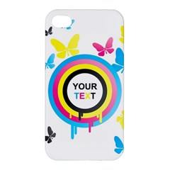 Colorful Butterfly Rainbow Circle Animals Fly Pink Yellow Black Blue Text Apple Iphone 4/4s Hardshell Case by Alisyart