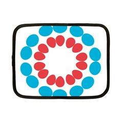 Egg Circles Blue Red White Netbook Case (small)  by Alisyart