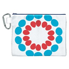 Egg Circles Blue Red White Canvas Cosmetic Bag (xxl) by Alisyart
