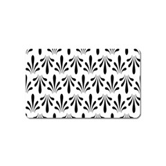 Floral Black White Magnet (Name Card) by Alisyart
