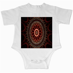 Circles Shapes Psychedelic Symmetry Infant Creepers by Alisyart