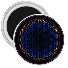 Flower Of Life 3  Magnets by Onesevenart