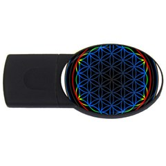 Flower Of Life Usb Flash Drive Oval (4 Gb) by Onesevenart