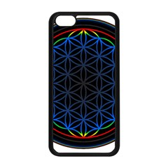 Flower Of Life Apple Iphone 5c Seamless Case (black) by Onesevenart
