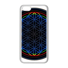 Flower Of Life Apple Iphone 5c Seamless Case (white) by Onesevenart