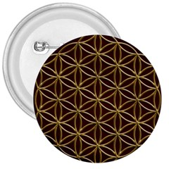 Flower Of Life 3  Buttons by Onesevenart