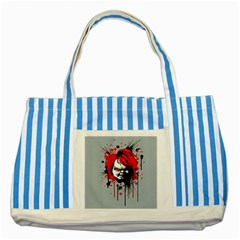 Good Guys Striped Blue Tote Bag by lvbart