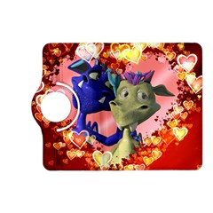 Ove Hearts Cute Valentine Dragon Kindle Fire Hd (2013) Flip 360 Case by Onesevenart