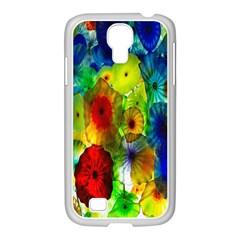 Green Jellyfish Yellow Pink Red Blue Rainbow Sea Samsung Galaxy S4 I9500/ I9505 Case (white) by Alisyart