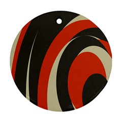 Mixing Gray Orange Circles Round Ornament (two Sides) by Alisyart