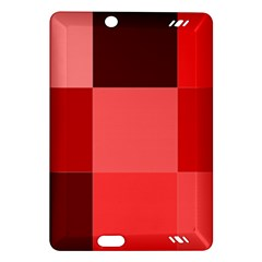 Red Flag Plaid Amazon Kindle Fire Hd (2013) Hardshell Case by Alisyart