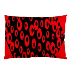 Scatter Shapes Large Circle Black Red Plaid Triangle Pillow Case by Alisyart