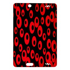 Scatter Shapes Large Circle Black Red Plaid Triangle Amazon Kindle Fire Hd (2013) Hardshell Case by Alisyart