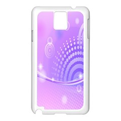 Purple Circle Line Light Samsung Galaxy Note 3 N9005 Case (white) by Alisyart