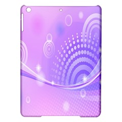 Purple Circle Line Light Ipad Air Hardshell Cases by Alisyart