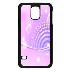 Purple Circle Line Light Samsung Galaxy S5 Case (black) by Alisyart