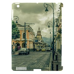 Historic Center Urban Scene At Riobamba City, Ecuador Apple Ipad 3/4 Hardshell Case (compatible With Smart Cover) by dflcprints