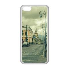 Historic Center Urban Scene At Riobamba City, Ecuador Apple Iphone 5c Seamless Case (white) by dflcprints