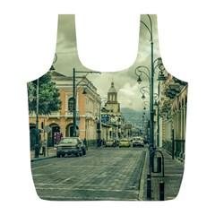 Historic Center Urban Scene At Riobamba City, Ecuador Full Print Recycle Bags (l)  by dflcprints