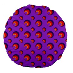 Scatter Shapes Large Circle Red Orange Yellow Circles Bright Large 18  Premium Flano Round Cushions by Alisyart
