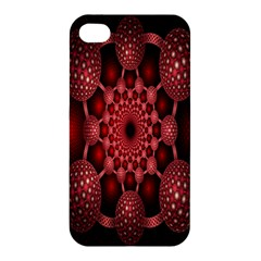 Lines Circles Red Shadow Apple Iphone 4/4s Hardshell Case by Alisyart