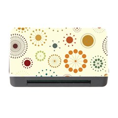 Seamless Floral Flower Orange Red Green Blue Circle Memory Card Reader With Cf by Alisyart