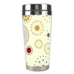 Seamless Floral Flower Orange Red Green Blue Circle Stainless Steel Travel Tumblers by Alisyart