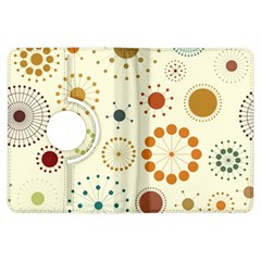 Seamless Floral Flower Orange Red Green Blue Circle Kindle Fire HDX Flip 360 Case