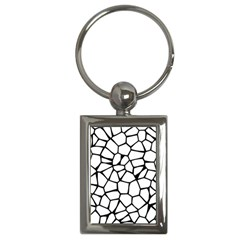 Seamless Cobblestone Texture Specular Opengameart Black White Key Chains (rectangle)  by Alisyart