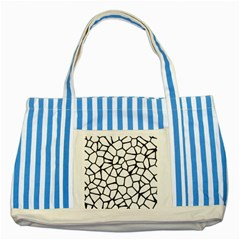 Seamless Cobblestone Texture Specular Opengameart Black White Striped Blue Tote Bag by Alisyart