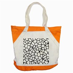 Seamless Cobblestone Texture Specular Opengameart Black White Accent Tote Bag by Alisyart