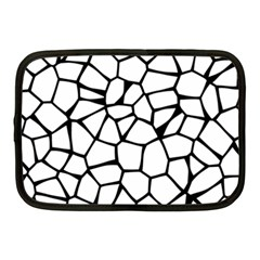 Seamless Cobblestone Texture Specular Opengameart Black White Netbook Case (medium)  by Alisyart