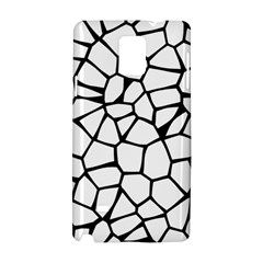 Seamless Cobblestone Texture Specular Opengameart Black White Samsung Galaxy Note 4 Hardshell Case by Alisyart