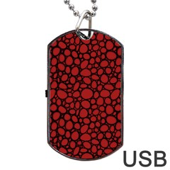 Tile Circles Large Red Stone Dog Tag Usb Flash (two Sides) by Alisyart
