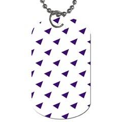 Triangle Purple Blue White Dog Tag (one Side) by Alisyart