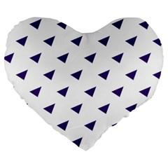 Triangle Purple Blue White Large 19  Premium Heart Shape Cushions by Alisyart