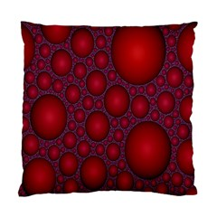 Voronoi Diagram Circle Red Standard Cushion Case (one Side) by Alisyart