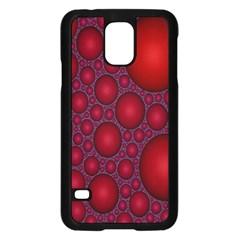 Voronoi Diagram Circle Red Samsung Galaxy S5 Case (black) by Alisyart
