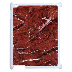 Texture Stone Red Apple Ipad 2 Case (white) by Alisyart